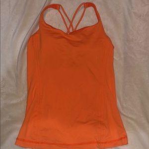 Lululemon Orange tank top